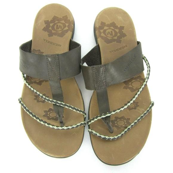 14cd61bc8c66 Merrell Amber Espresso Thong Sandals 10 EUC Brown.  M 5ca302cf2e7c2fdf5b83c3eb